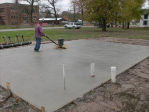 Gastonia concrete pads for RV, sheds, AC, basketball